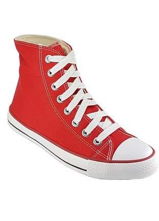 Tenis casual cano alto vermelho