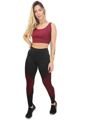 Conjunto feminino cropped e calça legging coleção serra fitness