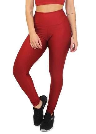Calça legging fitness academia lisa vermelha roupas malhar