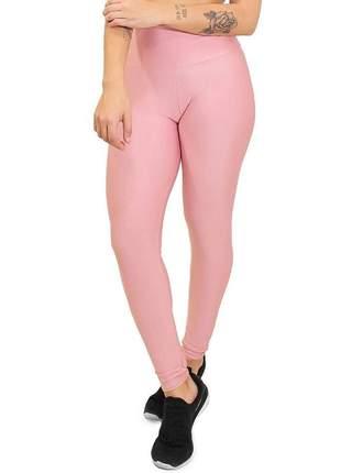 Calça legging fitness lisa rosa roupas academia