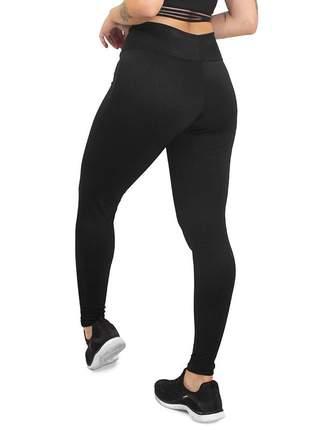 Calça legging fitness academia lisa preto roupas malhar