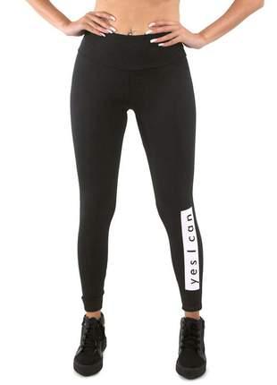 """Calça legging lisa estampada filme yes i can """"sim eu consigo"""" moda fitness"""