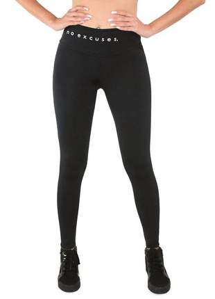 Calça legging fitness academia no excuses moda fitness