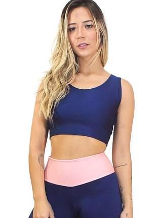 Cropped liso feminino academia moda fitness