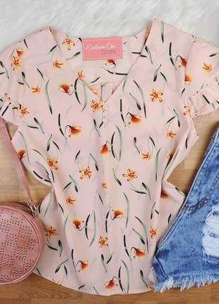 Blusa floral nude bs384