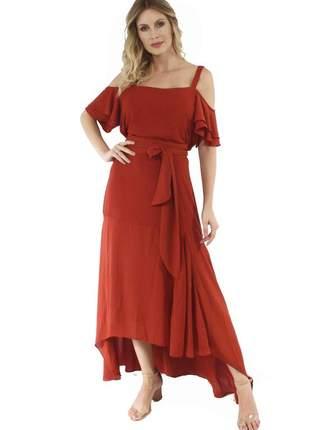 Fcl17676 vestido de crepe