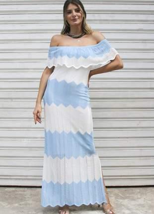 Ddl17841 vestido de trico