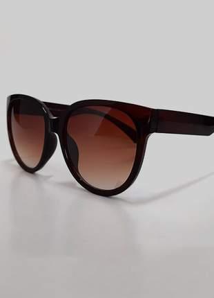 Óculos de sol feminino armação grossa uv 400 - marrom