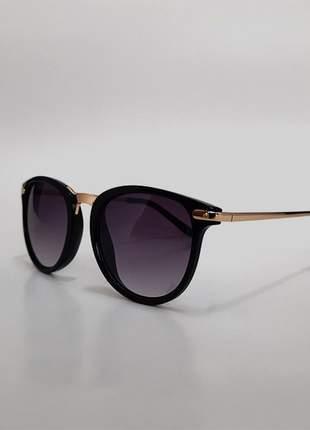 Óculos de sol feminino gatinho - preto - uv 400