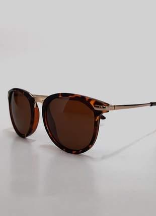 Óculos de sol feminino gatinho - estampa tartaruga  uv 400