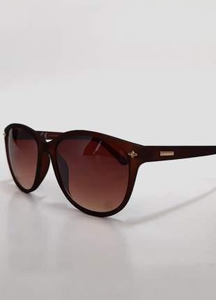 Óculos de sol feminino marrom fosco - proteção uv 400