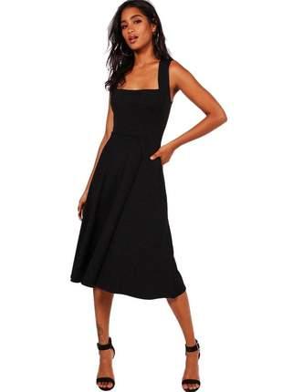 Vestido midi feminio godê alça moda blogueira 2020