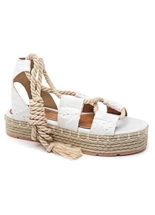 Sandália flatform branca