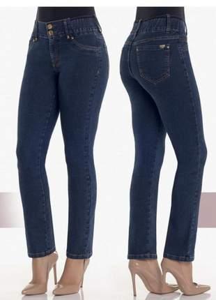 Calça feminina jeans modelo reta - marca dbz jeans - diamante