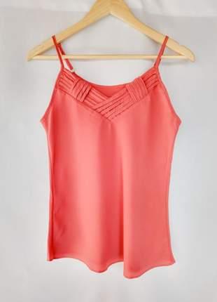 Blusa de alcinha feminina alça reguladora regata básica