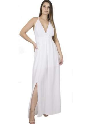 Vestido dress code moda longo branco