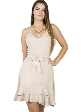 Vestido dress code moda babado off white
