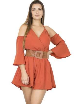 Macaquinho dress code moda terracota