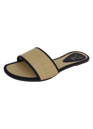Rasteirinha dali shoes slide palha