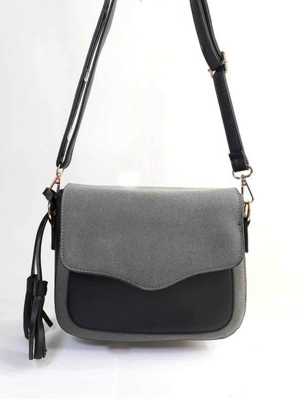 0151dcaee Bolsa bag valeria cinza - bolsa feminina, tiracolo, casual, em couro  ecológico1 ...