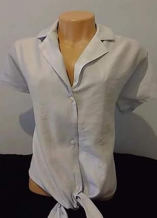 Camisa feminina amarração na cintura
