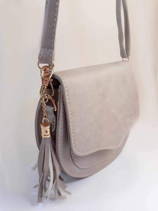 6ea3732a0 ... Bolsa bag michele cinza - bolsa feminina pequena, tiracolo, de couro  ecológico2