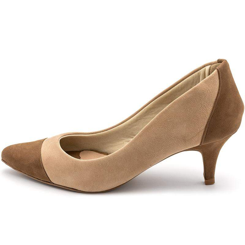 SAPATO PICCADILLY 746015-1 OCRE/NUDE/CHOCOLATE (OF