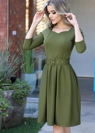 Midi perfeito verde militar