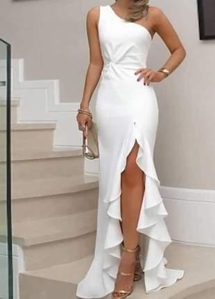 Vestido longo para festas branco