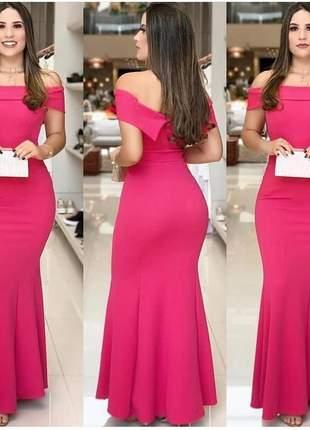 Vestido longo de festas pink