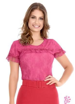 Blusa evangélica renda sol da terra guipir moda feminina