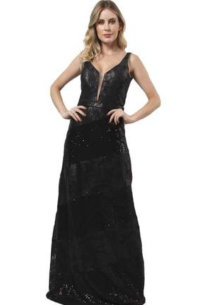18024 vestido de paetê