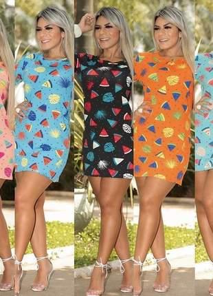 Camisetão vestido verão melancia