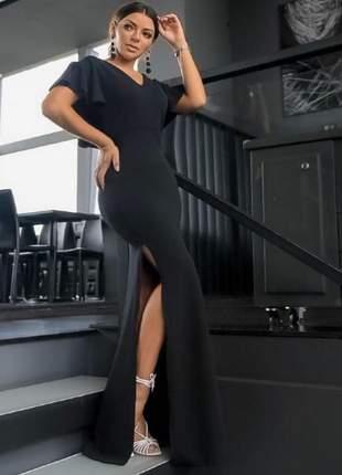 Vestido festas longo preto