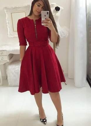 Vestido gode moda evangelico social+cinto incluso midi liso rodado cristã barato promoção