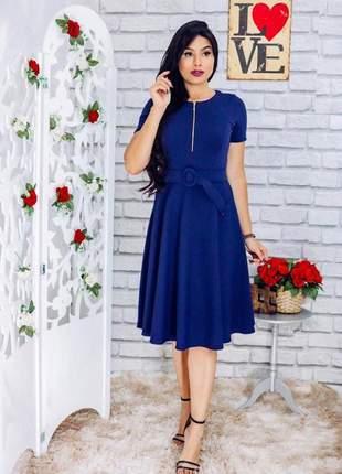 Vestidos femininos+cinto incluso moda evangélica midi godê lançamento 2019 promoção