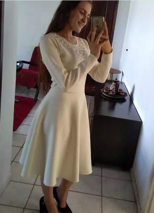 Vestido de neoprene gode tipo sol da terra moda evangelica