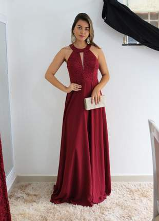 Vestido madrinha de casamento gestantes formanda longo pronta entrega bodas 15 anos