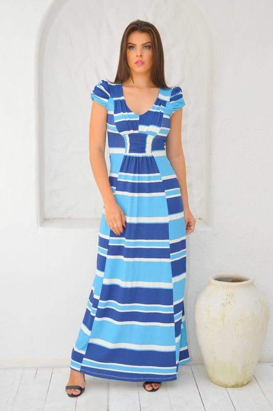 Vestido Longo Em Listras Tecido Viscolycra R 3990 Shafa O Melhor Da Moda Feminina