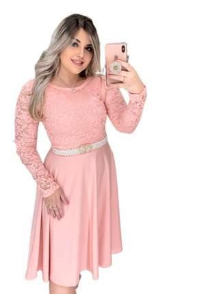 Vestido renda moda evangélica festas igreja gospel lançamento 2019 oferta