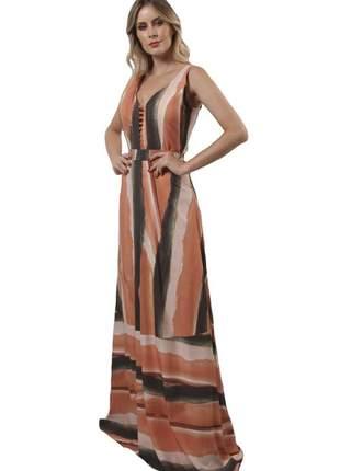 18025 vestido estampado longo