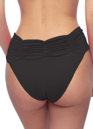 80019 - calcinha de biquíni estigma moda sunquíni cós franzido