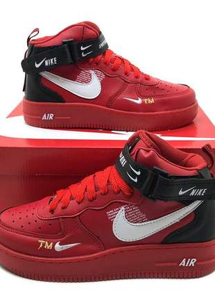 Tênis  bota nike air force vermelha