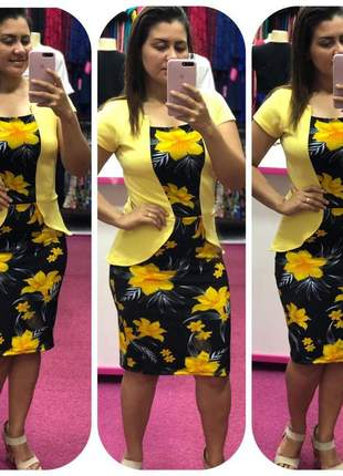 Vestido evangélico executivo luxo gospel moda plus size atacado barato promoção