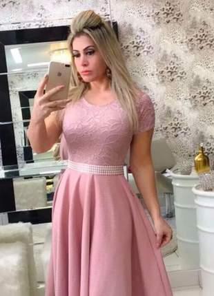 Vestido renda moda evangélica atacado barato promoção
