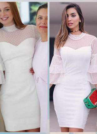 Vestido branco off white casamento civil noivado reveillon