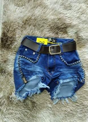 Shorts jeans cintura alta da julie promoção verão