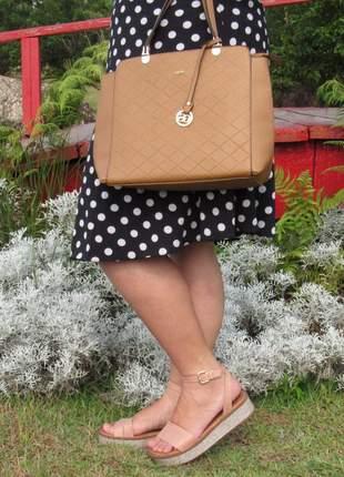 Kit sandalia vizzano flatform + bolsa social ombro com pingente