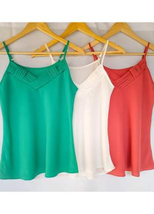 4 regata feminina blusa de alcinha alça blusa crepe de seda