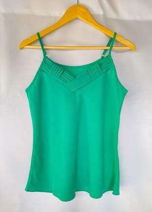 Leve 2 e pague 1. blusinha de alcinha fina regulável blusa de crepe lisa